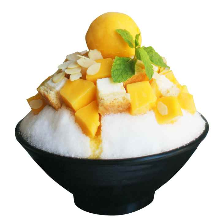 מנגו ועוגת גבינה של so-bing (צילום: דיויד צאן)