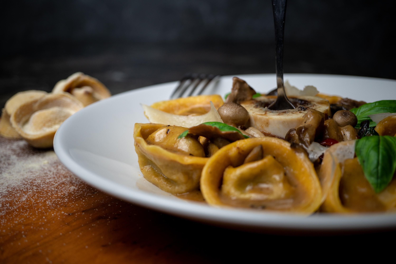 טורטליני ציידים של מסעדת פראטלי (צילום: דוד מויאל)