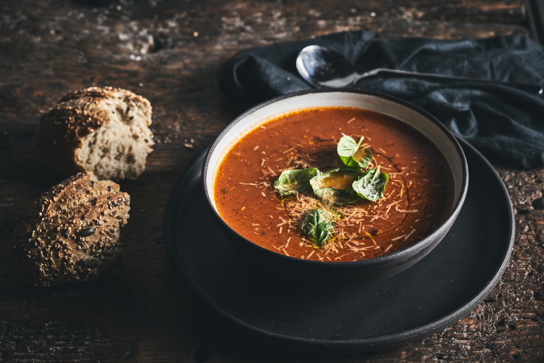 """מרק עגבניות של ארקפה (צילום: יח""""צ)"""