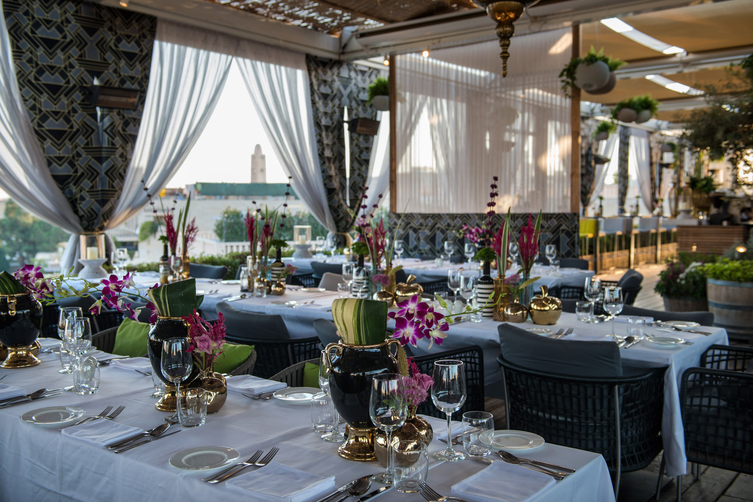 סוכות במסעדות מלון ממילא (צילום: אילן נחום)