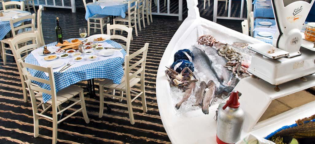 שוק דגים בחוף אלמוג. תמונה באדיבות המסעדה