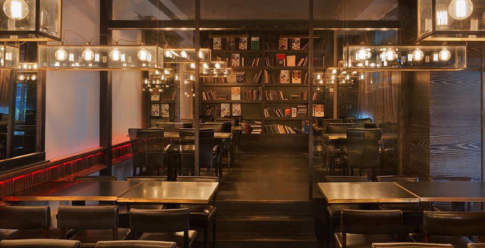 החלל המעוצב של 'הספריה'. תמונה באדיבות המסעדה