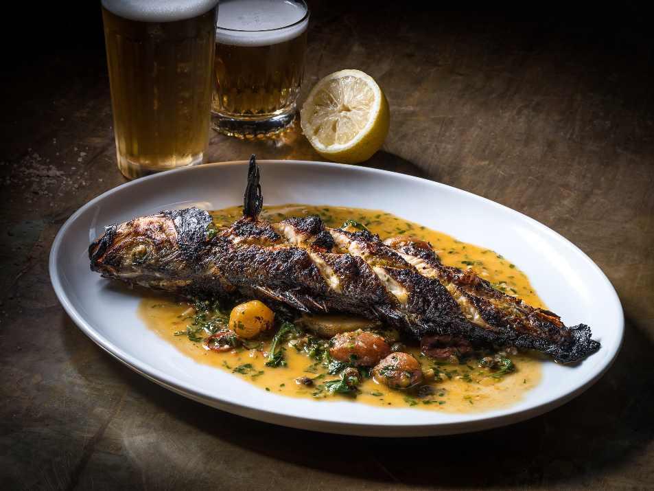 דג ובירה בפומו תל אביב (צילום: באדיבות המקום)