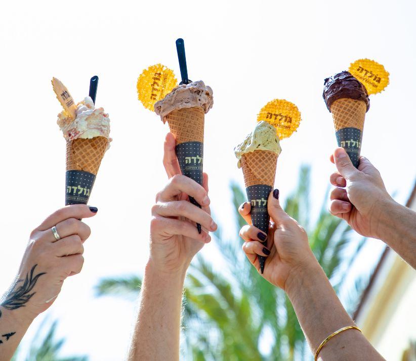 גלידות ברשת גולדה (צילום: שרית גופן)
