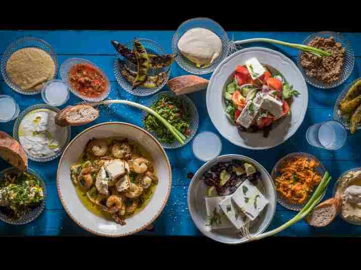 ארוחה במסעדת ג'קו מאכלי ים (צילום: אנטולי מיכאלו)