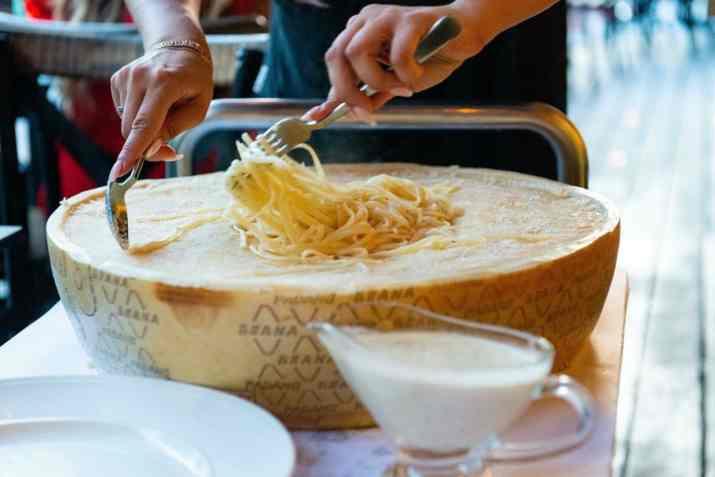 פסטה בגליל פרמזן במסעדת מאתיאו (צילום: באדיבות המקום)