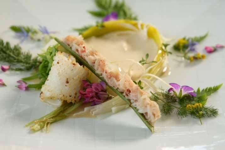 מנה של השף סטפן (באדיבות שף סטפן מסעדת Le Fantin Latour)