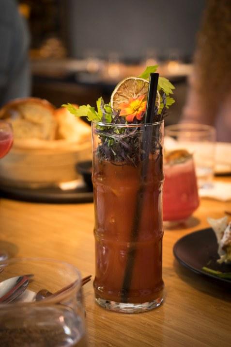 """אווירה של סופ""""ש. בלאדי מרי במסעדת טאיזו (צילום: יפית שמחה)"""