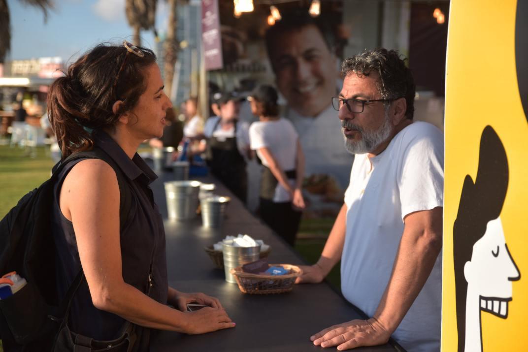 השף חיים כהן בפסטיבל תל אביב EAT (צילום: דודו בר סלע)