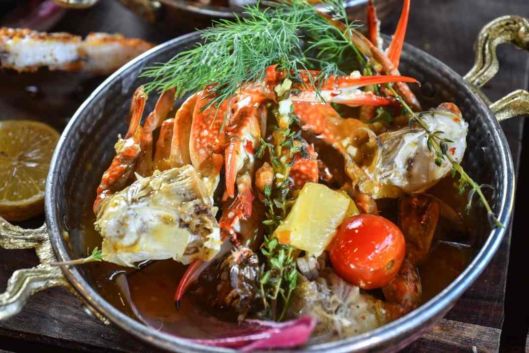פירות ים במסעדת דובאי סח'נין (צלם: גלעד הר שלג)