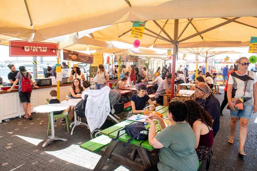 """פסטיבל חופשי מגלוטן בשוק הנמל (צילום: יח""""צ)"""