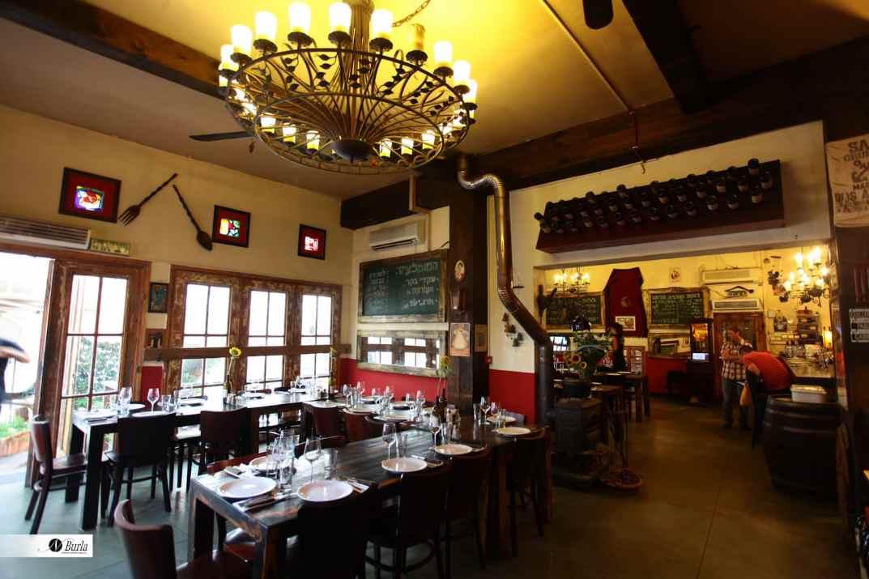 חלל מרווח ותחושה בטוחה. מסעדת דוניה רוסה, עין הוד (צילום: באדיבות המקום)