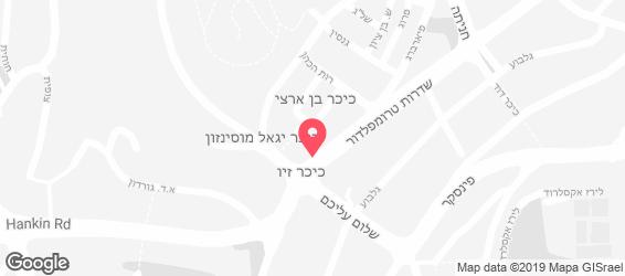 סנדביץ' בר זיו - מפה