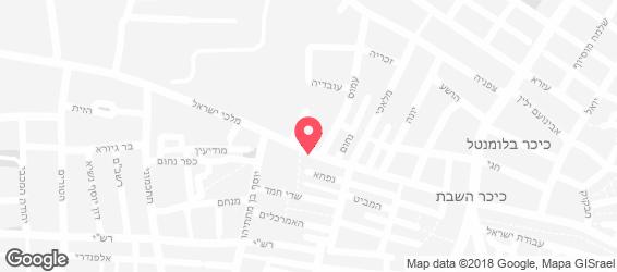 פיצה ירושלים - מפה