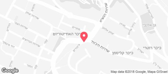 פונדק הדב - מפה