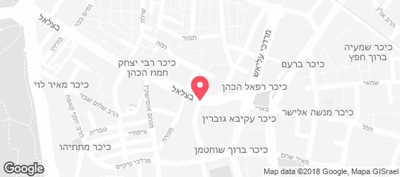 נוקטורנו - בית וקפה ירושלים - מפה