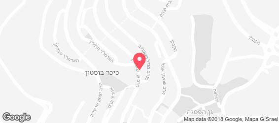 הפיצה ביסטרו ירושלים - מפה
