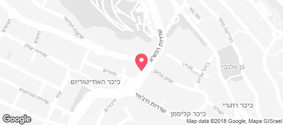 סנדוויץ' בר כרמל - מפה