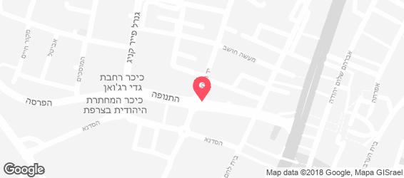 סטקיית צדקיהו ירושלים - מפה