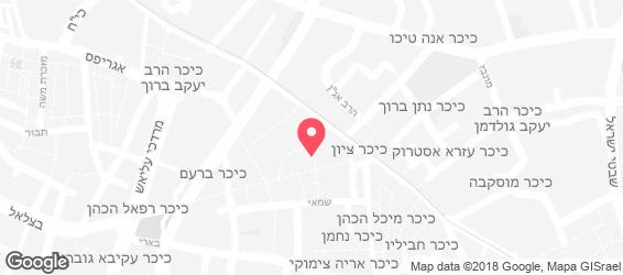 קפה רימון ירושלים - מפה