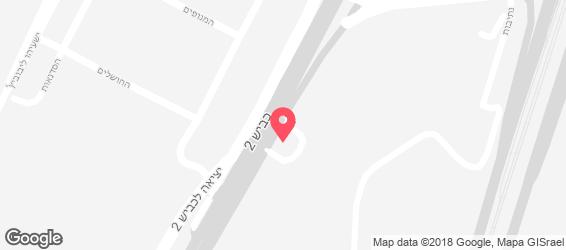 לרשת בית הפנקייק המקורי - חנות המפעל - מפה