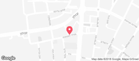 שווארמה העגלה - מפה