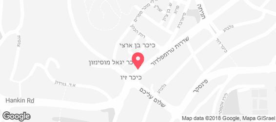 חומוס זיו של דני חיפה - מפה