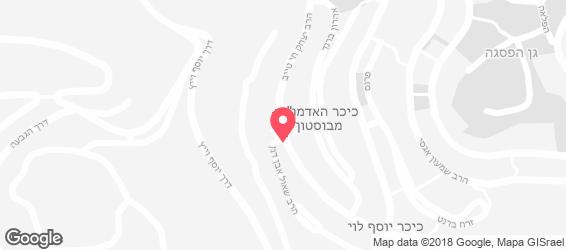 פיצה ירושלים 2 - מפה