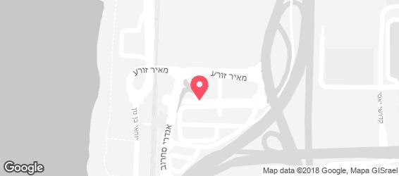 בורגראנץ' חוף הכרמל חיפה - מפה