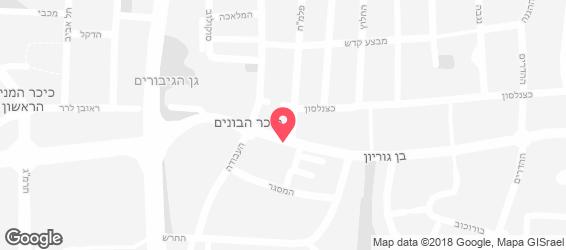 פטרה הלבנונית - מפה