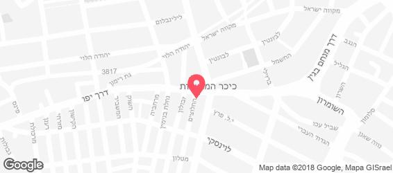 בר אילן - פאב החלוצים - מפה