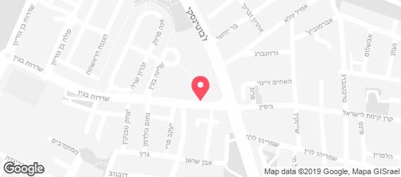 הבגט הלוהט  - מפה