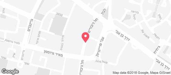 מזנון  סימה - מפה