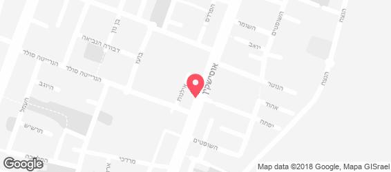 חומוס אסף - מפה
