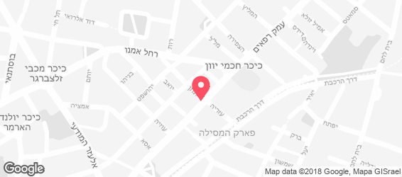 סושי רחביה ירושלים - מפה