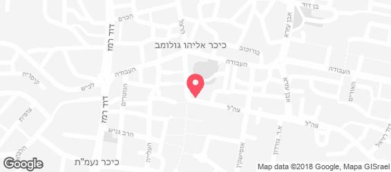 שווארמה ראש העיר - מפה