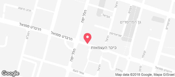חומוס אגדע - מפה