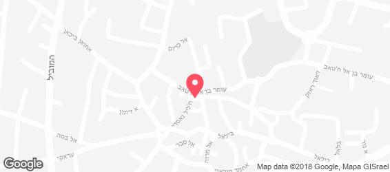 חומוס בלדי - מפה