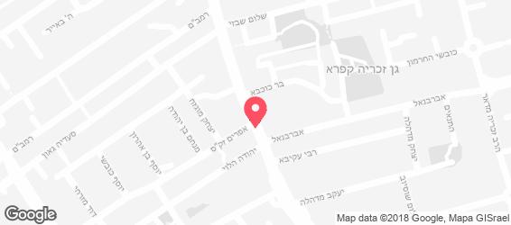 המסעדה הישראלית - מפה