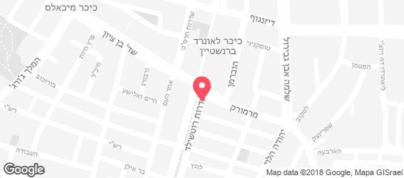 מלגו ומלבר תל אביב - מפה
