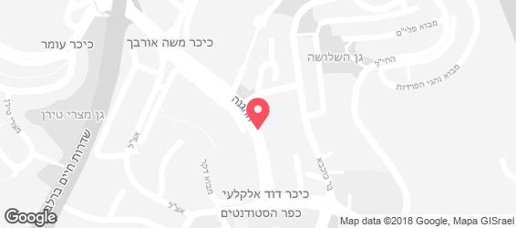 פיצה דומינו ירושלים - מפה