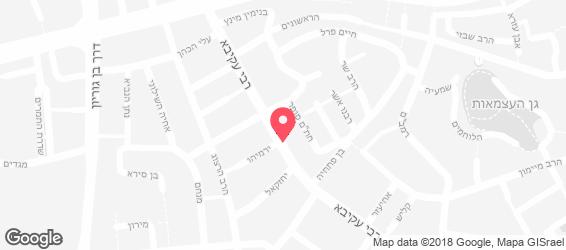 פלאפל רבי עקיבא - מפה