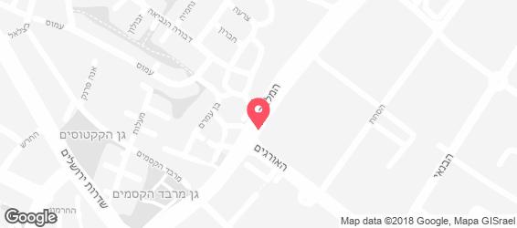 אווזי גריל בר ישראלי - מפה