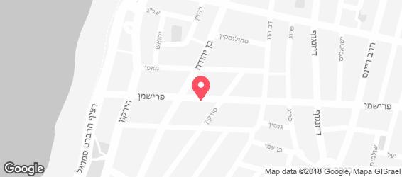 סושי בר בזל פרישמן - מפה
