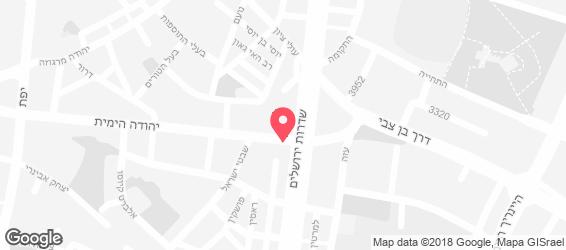 דאבל אספרסו תל אביב - מפה