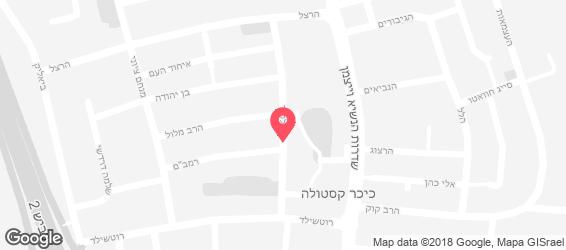 החומוס של משה - מפה