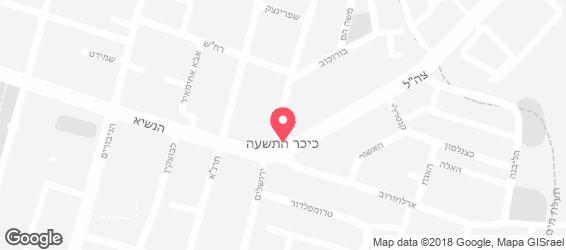 חומוס ירושלים - מפה