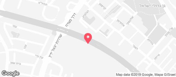 ג'וני קריספי גרנד באר שבע - מפה