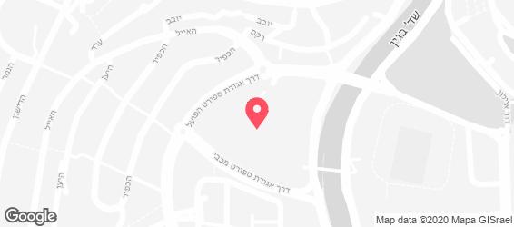 פיצה הום ירושלים - מפה