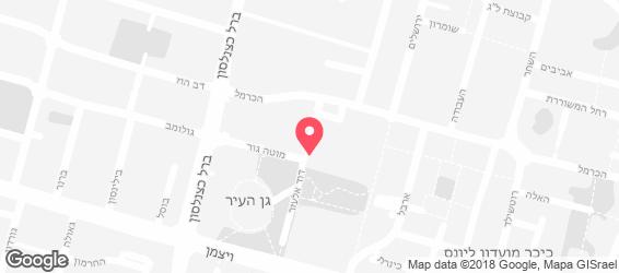 היישה בר - מפה